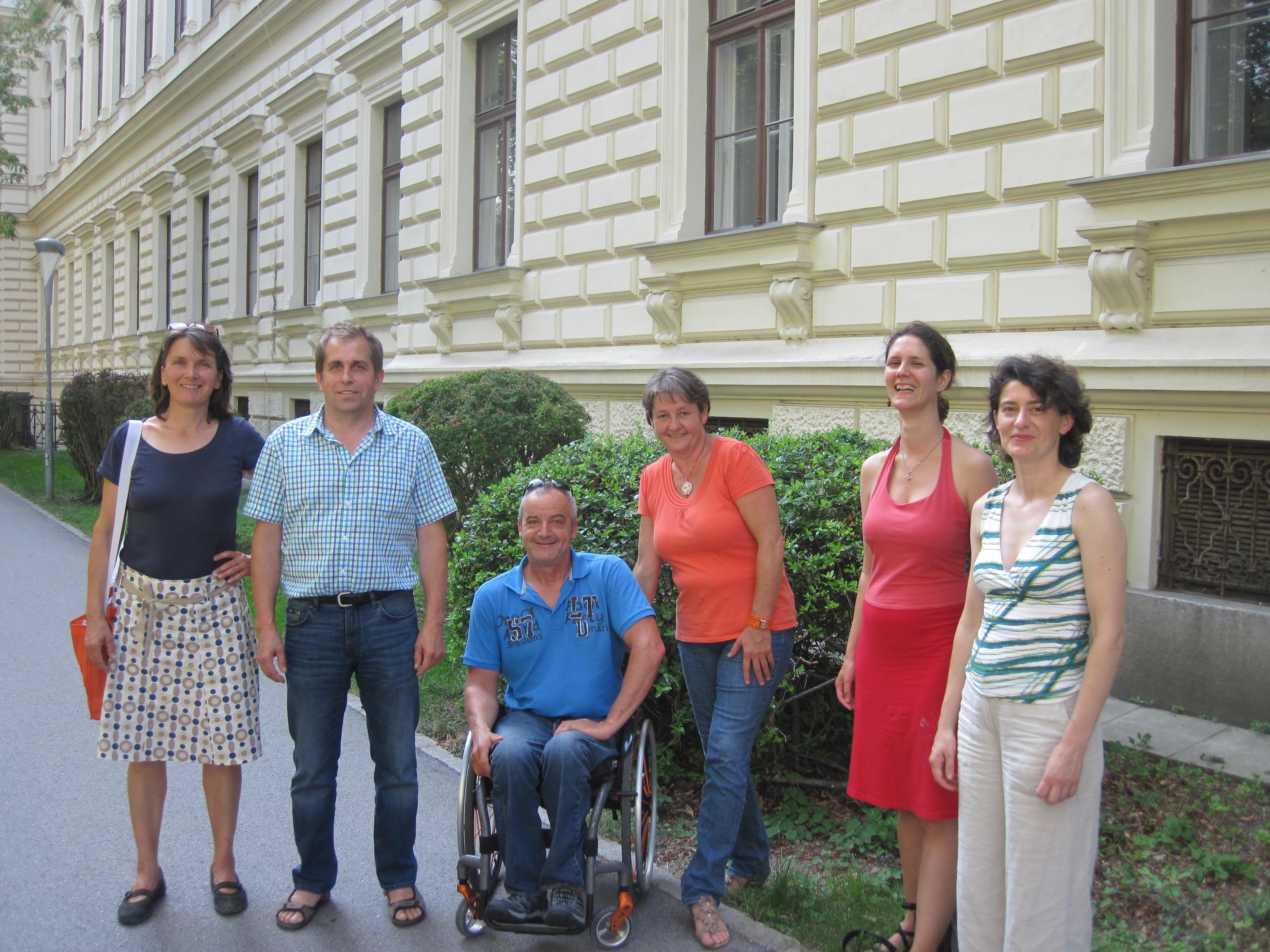 Ein Teil des Team AGES auf Besuch in Graz